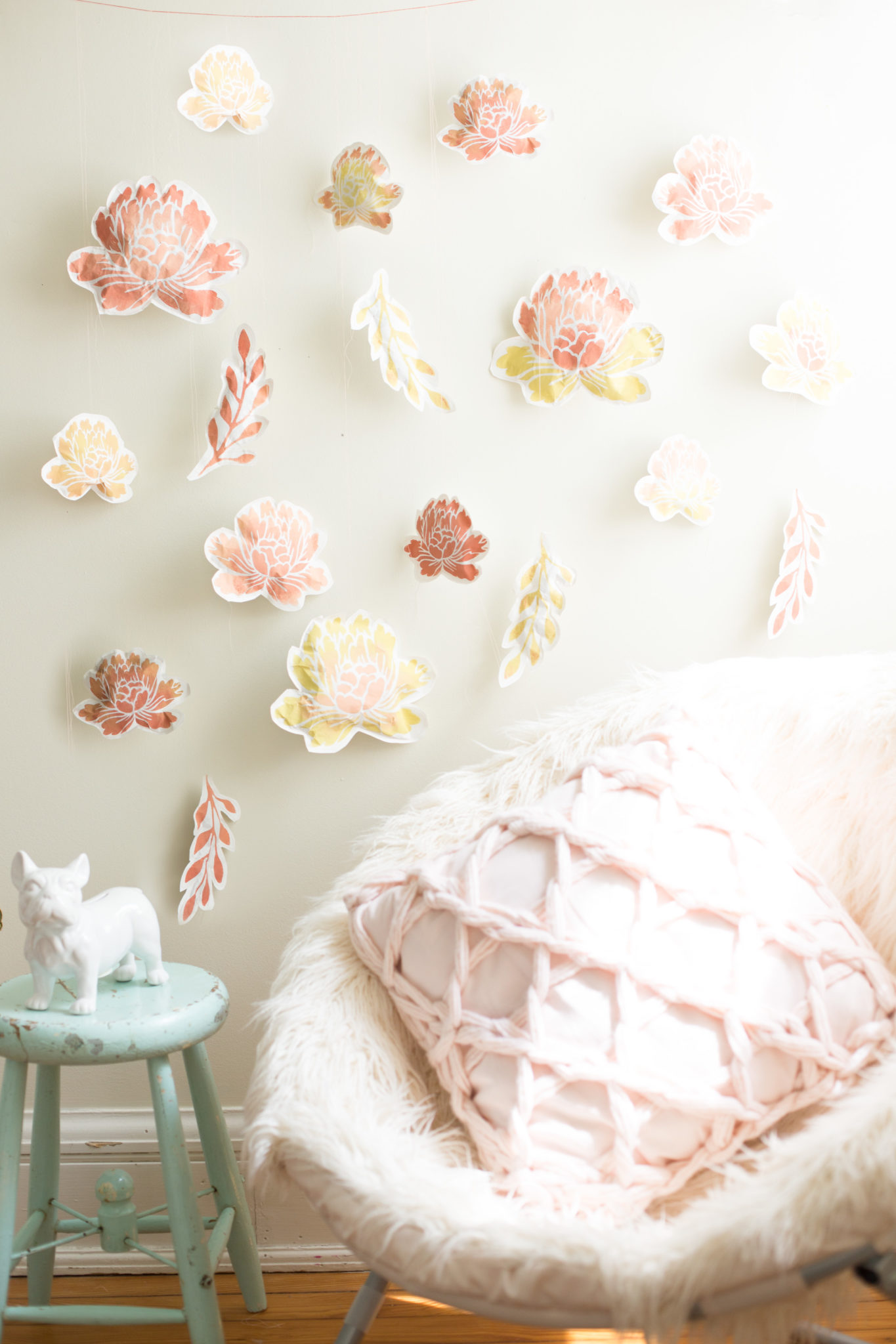 Pay for paper flower wall decor diy